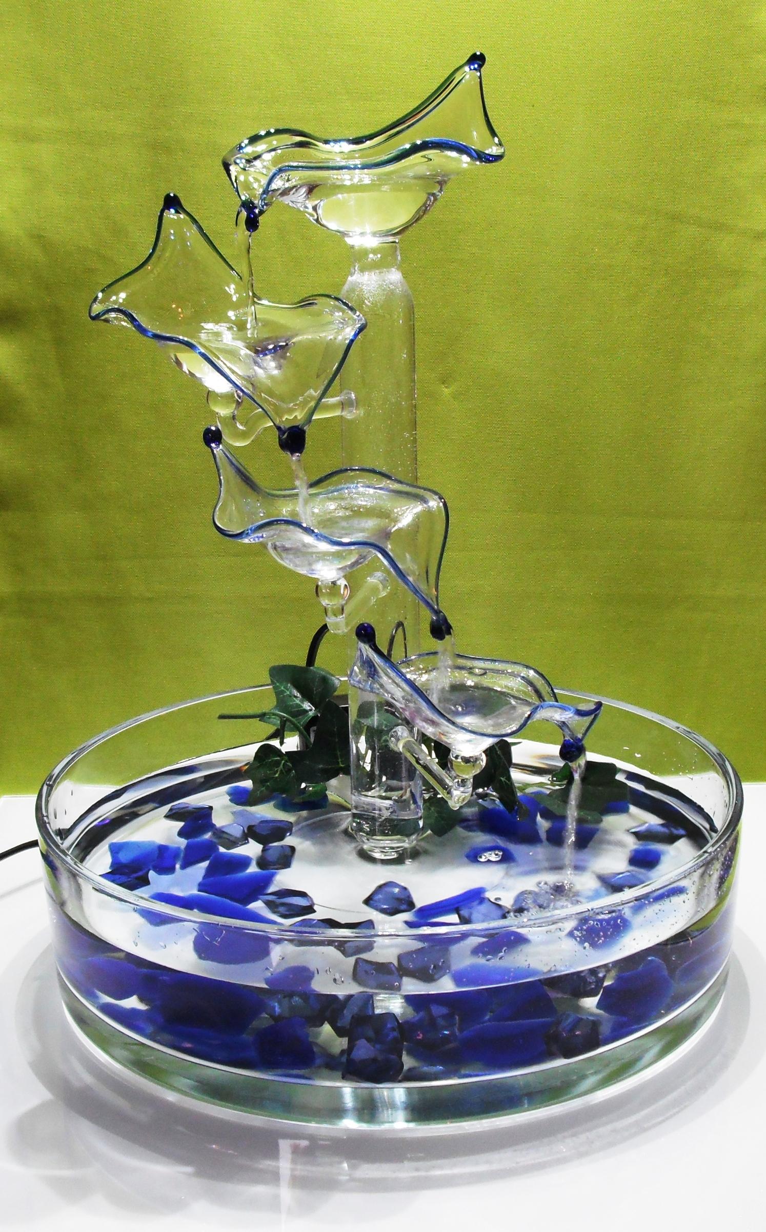 Brunnen Blau