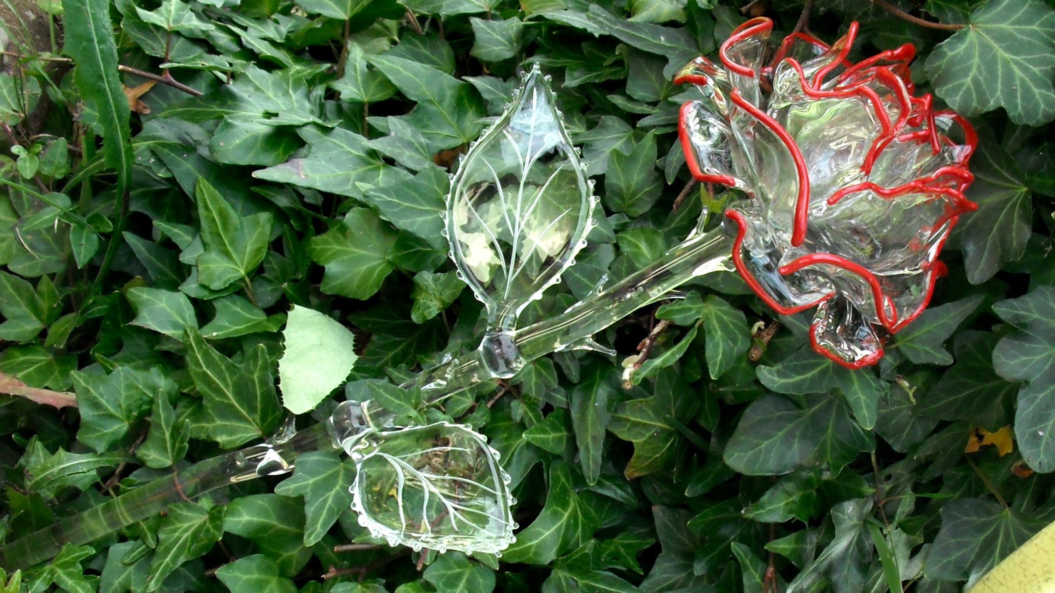 Rose aus Glas