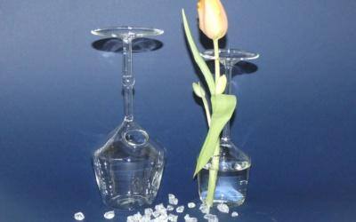 Weinglas Vase