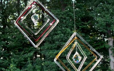 Sonnenfänger mit Kristall-Prisma