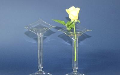 Vase klar, Rand in Blattform