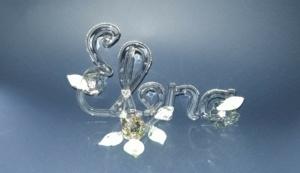 Hübscher Name aus Glas