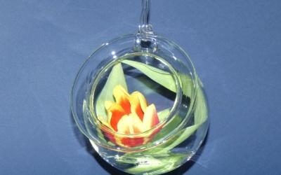 Glas Kugel Vase zum hängen