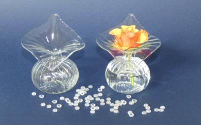 Profil klar Glas Vase mit großem Rand